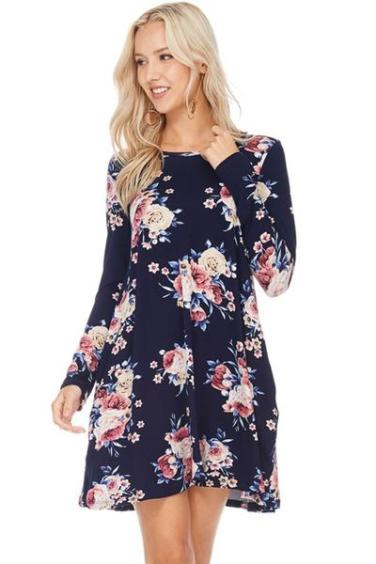 Madison Strappy Floral Dress | Sophia Ann Boutique