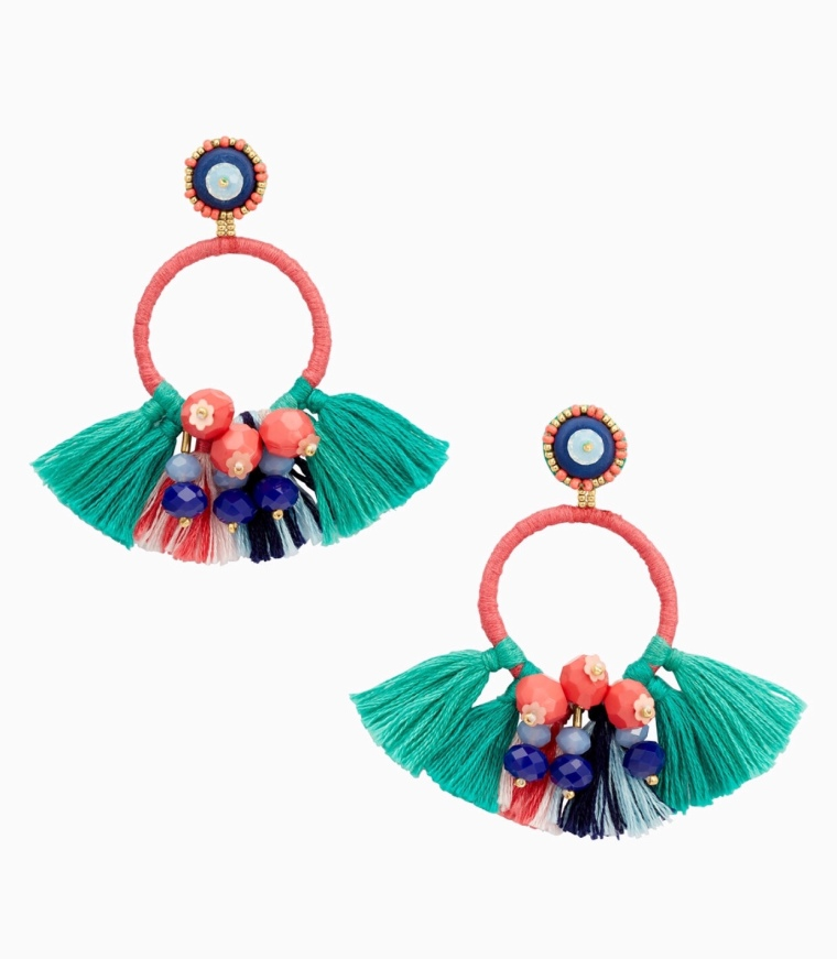 Bright, Fun, Adorable Pops of Color using Statement Earrings for Summer 2018 Fashion
